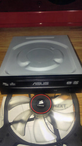 Asus DVD Drive. Red LED Corsiar 140mm fan