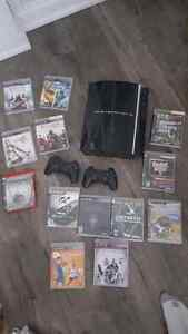 Excellent condition PS3 with 2 controllers and games Cambridge Kitchener Area image 1