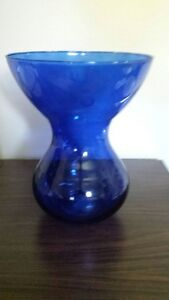 NEW large blue vase made in Spain (price tag still attached)