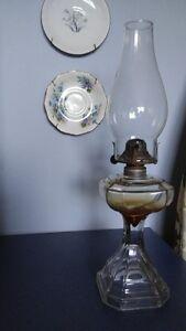 vintage ( antique ) lampe a l huile