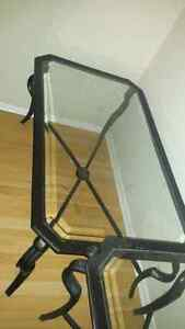 Wrought iron coffee table & side tables London Ontario image 2