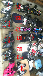 skiing board & sled, ski boots, ski cap,Roller & skating shoes