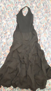 Brand New Black Bohemian Halter Dress with Full Gypsy Skirt