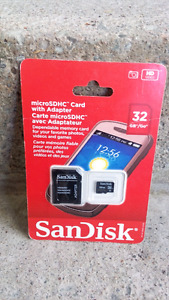 SanDisk 32GB micro SD card with adapter