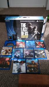 Huge PS4 bundle.  2 controllers. 10 games