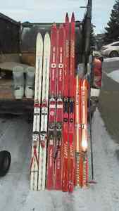 4 SETS OF SKIS AND ONE PAIR OF SHOE FOR SALE $ 125