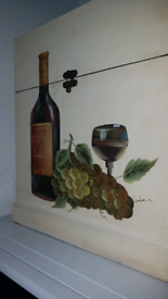 Gorgeous hand painted wooden wine box