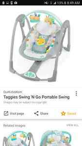 Taggies Fold and Go baby Swing