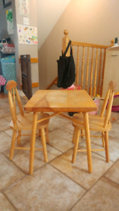 Chidren's Wooden Table & 2 Chairs