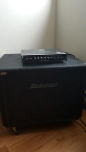 Traynor TC115 bass amp and SB500H head