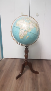 World Globe on wooden stand
