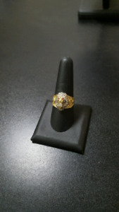 Solid 10K Gold Lion Face Ring