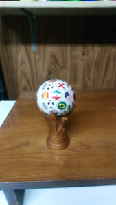 World cup plastic ball and stand