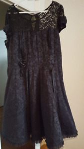 Torrid Size 16 Hello Kitty Black Dress with Tulle- New