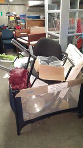 Lots of free stuff...perfect to sell at a yard sale