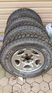 LT 245/75/16 SNOW TIRES