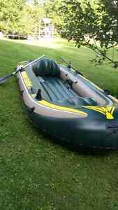 Seahawk 4 Inflatable Fishing Boat With Motor