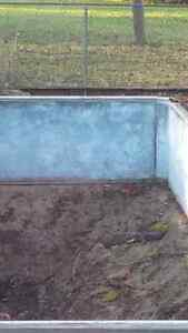 Galvanized Swimming Pool Being Removed