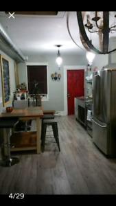 Large Rustic Modern Furnished 2BR Upper Loft in Walkerville