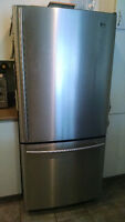 Refrigerateur LG stainless 18 pi c