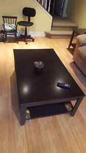 Coffee table with two matching end tables. $100 OBO