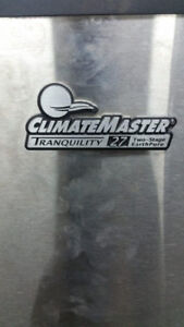 CLIMATE MASTER TRANQUILITY 27 TWO STAGE HEAT PUMP used For Sale