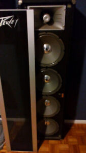 2 peavey scorpion speakers with horn for sale