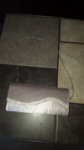 really pretty silver and rhinestone purse