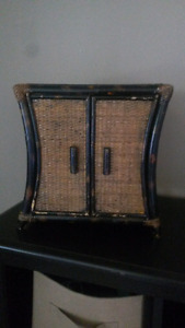Bamboo and Wicker display box
