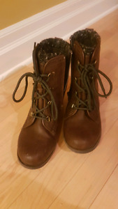 Dark brown boots in excellent condition.  size 9