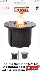 ENDLESS SUMMER FIRE PIT TABLE PATIO
