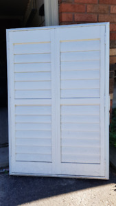 3 beautiful Louvre Window shades - (3x$20) or $50 for all 3.