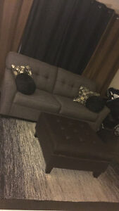 Grey couch from teppermans $500 obo