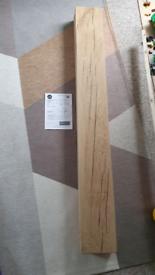 Solid oak mantel