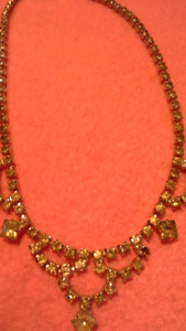 costume jewelry necklaces. various styles.