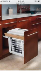 Rev-a-Shelf Hamper Top Mount w/ Polymer Bin for Bathroom Vanity