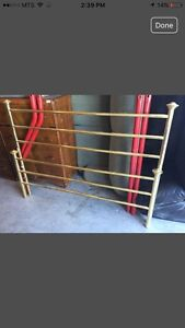Brass head and foot boards
