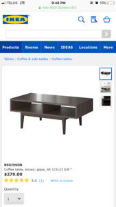 IKEA Regissor Dark Brown Coffee Table