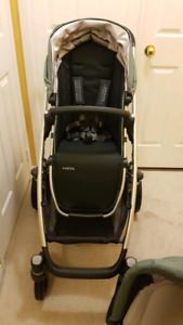 2017 uppababy vista stroller and bassinet
