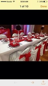 NICE CHAIR COVER,*TABLECLOTH,*BACKDROP* London Ontario image 6