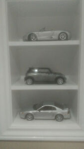 Diecast cars 1/18 scale Mustang, porsche Mini cooper cars