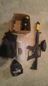 Tippman Paintball Gun with Accessories