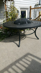Fire pit patio table Brand new
