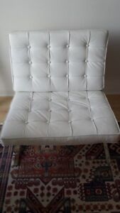 Barcelona Chair - Off White - $400.00