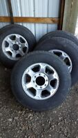 Brand New 17 tires with stock Ford rims