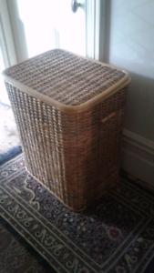 Large cane Laundry or storage basket