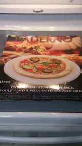 13 inch Paderno Pizza Baking Stone with Rack - Brand New in Box