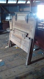Antique headboard footboard