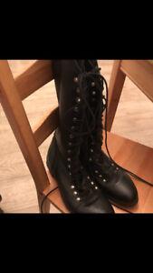 Miz Mooz tall lace up w size 10 boots