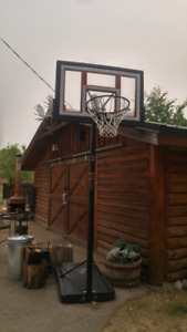 Basket ball net and stand.